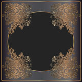 Luxury gold frame Royalty Free Stock Images