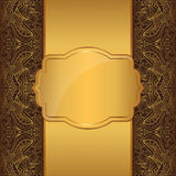 Luxury gold frame Royalty Free Stock Photos