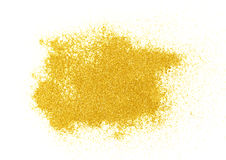 Luxury gold glitter sparkles isolated Royalty Free Stock Photo