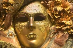 Luxury gold mask from venice Stock Photo