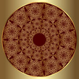 Luxury gold ornament round Stock Images