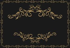 Luxury gold pattern ornament Royalty Free Stock Photos