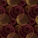 Luxury gold print with geometry pattern. Stock Photos