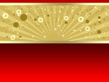 Luxury gold and red background. Abstract luxury red background with decorated golden ribbon Royalty Free Stock Photography