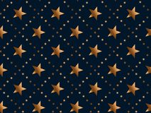 Luxury gold star concept seamless pattern. Stock Images