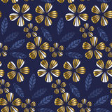 Luxury gold style tropical leave and flower element for festive Royalty Free Stock Photos