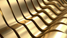 Luxury Gold Wave Abstract Background 3D Rendering royalty free illustration