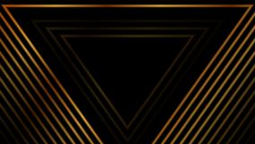 Luxury golden abstract triangles video animation royalty free illustration