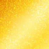 Luxury golden background with bokeh defocused Stock Photography