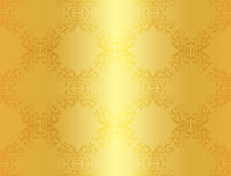 Luxury golden background with damask floral patter. Exclusive golden background with damask floral pattern Stock Images