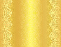 Luxury golden background with damask floral patter Royalty Free Stock Photo