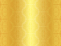 Luxury golden background with ornament pattern Royalty Free Stock Photos