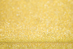 Luxury golden bokeh background. Magic christmas Stock Photography