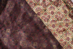 Brocade fabric stock photo