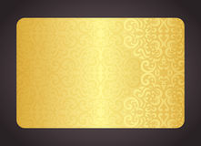 Luxury golden card with vintage pattern Stock Photo
