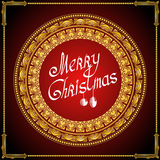 Luxury golden christmas vintage round frame background Royalty Free Stock Photos