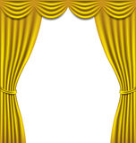 Luxury golden curtain on white background Stock Images