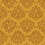 Luxury golden damask Stock Photos