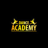 Luxury Golden Dance Academy Logo Royalty Free Stock Photography