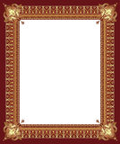 Luxury golden decorative frame. With pronounced corners Stock Images