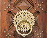 Luxury Golden doorknocker Stock Image