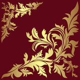 Luxury golden floral Borders. Royalty Free Stock Images