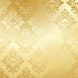 Luxury golden floral wallpaper Royalty Free Stock Photo