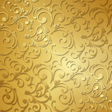 Luxury golden floral wallpaper Royalty Free Stock Images