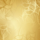 Luxury golden floral wallpaper Stock Photography