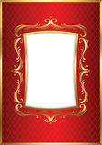 Luxury Golden Frame Stock Photo