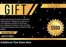 Luxury golden gift voucher design Royalty Free Stock Image