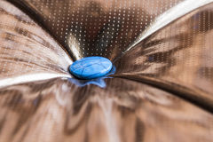Luxury golden leather close-up background Stock Photography