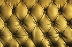 Luxury golden leather texture Stock Photography