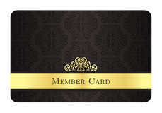 Luxury golden member card with classic vintage pat Stock Photography