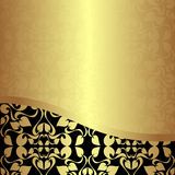 Luxury golden ornamental Background. Stock Photo