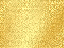 Luxury golden poker background with card symbols Royalty Free Stock Photo