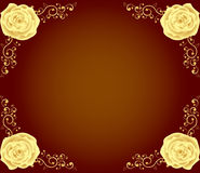 Luxury golden rose frame Stock Images