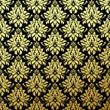 Luxury Golden Seamless Wallpaper Pattern. Vector Stock Photos