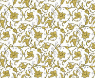 Luxury Golden Seamless Wallpaper Pattern. Vector Royalty Free Stock Images