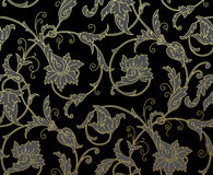 Luxury Golden Seamless Wallpaper Pattern. Vector Royalty Free Stock Photos