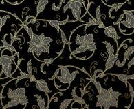 Luxury Golden Seamless Wallpaper Pattern. Vector Royalty Free Stock Photos