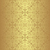 Luxury golden seamless Wallpaper. Stock Image