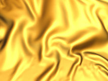 Luxury golden silk satin cloth folds background Royalty Free Stock Images