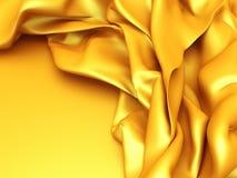 Luxury golden silk satin cloth folds background Stock Photo