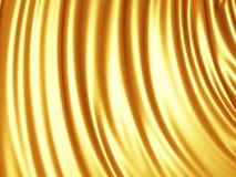 Luxury golden silk satin cloth folds background Stock Photos