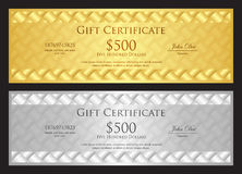 Luxury golden and silver gift certificate in moder Stock Photo