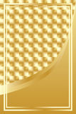 Luxury golden square background. This illustration is drawing luxury golden square background with frame Stock Photo