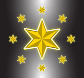Luxury golden star Royalty Free Stock Photo