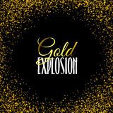 Luxury golden texture. Gold frame glitter  on black. Royalty Free Stock Images