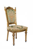 Luxury golden vintage chair Royalty Free Stock Photo